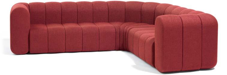 Canapé composable pour espaces d'accueil d'entreprise