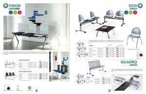 Chaises poutres assises - Mobilier d'entreprise