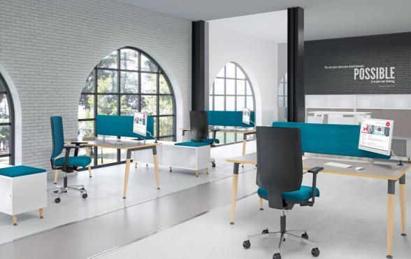 4wood mobilier de travail individuel et collectif. Black Bedroom Furniture Sets. Home Design Ideas